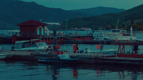 The Blue Danube - Evening Cinematic Shot Footage