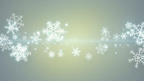 christmas snowflakes seamless loop abstract background 4k (4096x2304) Animation