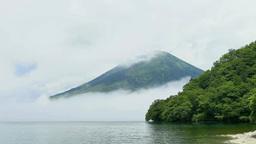 Lake Chuzenji and mt. Nantai Footage
