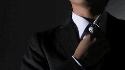 Businessman Fastening A Tie stock footage
