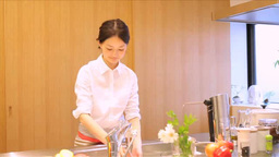 Woman Washing Dishes Footage