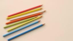 Colored pencil Footage