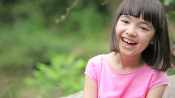 Half-Japanese girl smiling Footage