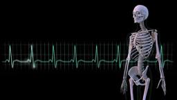 骨格とデジタル信号 stock footage