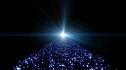 青く光る星の道 Footage