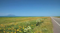 サロベツ原野と利尻島 ビデオ