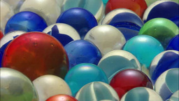 Colorful marbles Footage