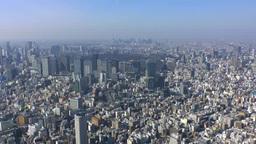 東京駅と皇居周辺 空撮 Footage