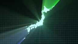 Japan map Footage