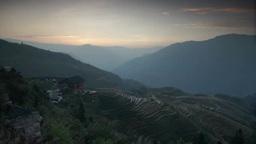 Dragon's Backbone Rice Terraces, Guangxi, Kwangsi, China Footage