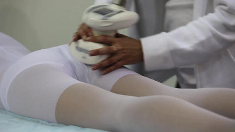 massage the buttocks Stock Video Footage