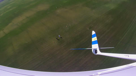 Flying over the Countryside, Bird's-eye, look back Stock Video Footage