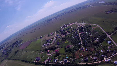 165Flying over the Countryside, Bird's-eye Stock Video Footage