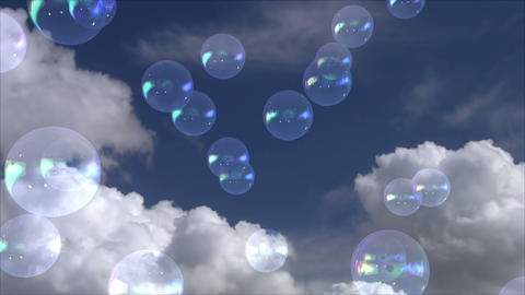 Bubbles particles 07 Stock Video Footage