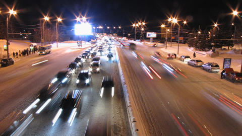 Highway at night Stock Video Footage