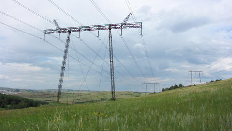Power Lines. 13 Stock Video Footage