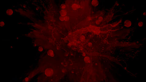 splash blood & red dyestuff ink Stock Video Footage