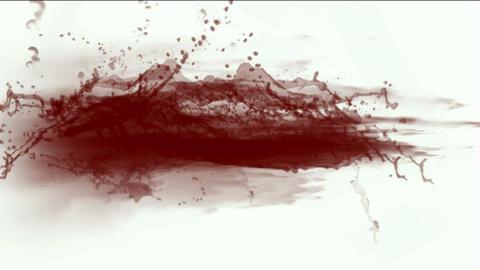 splash red fluid,blood & plasma,liquid & ink Stock Video Footage