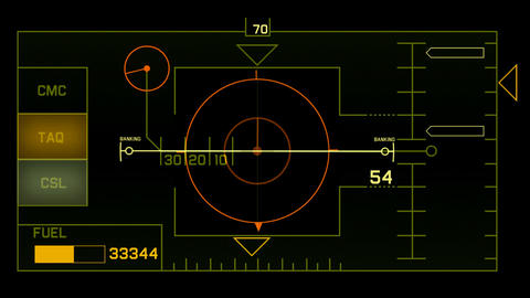 aviation radar GPS navigation screen display,computer... Stock Video Footage