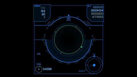 aviation radar GPS navigation screen display,center of... Stock Video Footage