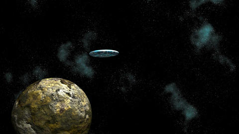 Asteroid and UFO Stock Video Footage