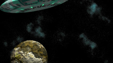 Asteroid and UFO Animation