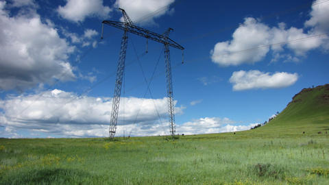 Power Lines. 18 Stock Video Footage