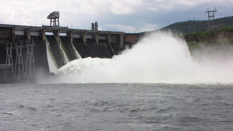 Spillway. 02 Stock Video Footage