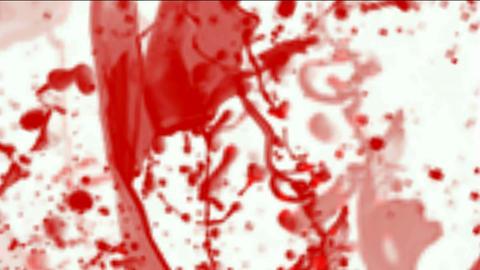 splash red paint fluid,liquid & ink,blood & plasma Stock Video Footage