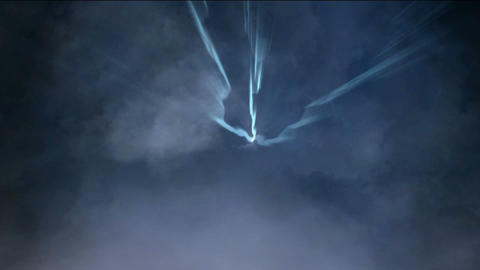 travel in storm clouds in universe Stock Video Footage