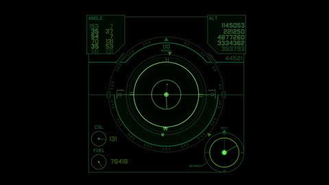 Radar GPS screen display,computer game navigation interface Animation