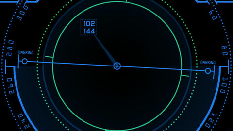 Radar GPS navigation screen display,computer game software interface Animation