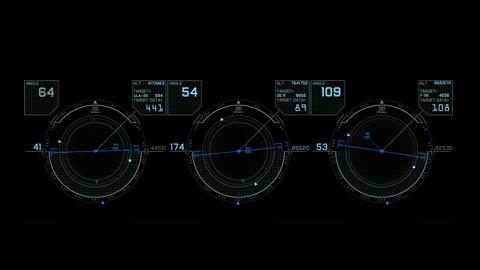 Radar GPS navigation screen display,tech computer... Stock Video Footage