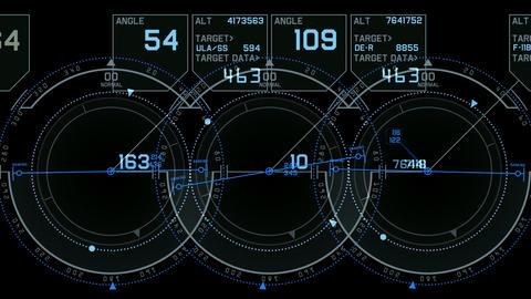 tech computer software panel,Radar GPS navigation screen... Stock Video Footage