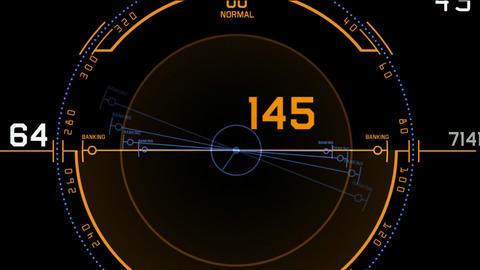 Radar GPS navigation screen display,computer tech... Stock Video Footage