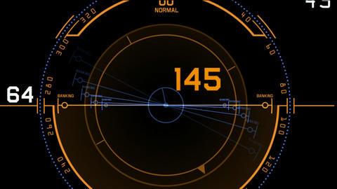 Radar GPS navigation screen display,computer tech software panel Animation