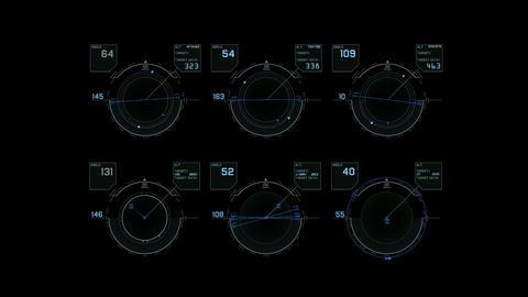 computer game interface,hi-tech software panel,aviation radar GPS navigation scr Animation