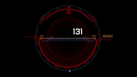 aviation radar GPS navigation screen display,futuristic... Stock Video Footage