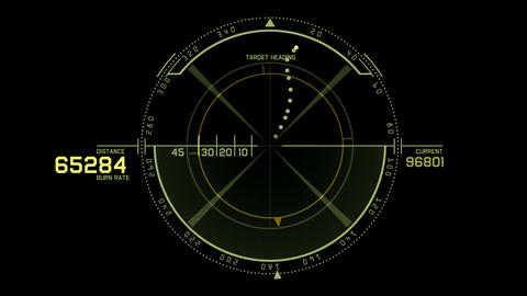 aviation radar GPS navigation screen display,bullet shot... Stock Video Footage