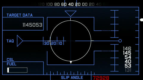 computer game interface,radar GPS navigation screen... Stock Video Footage