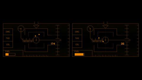 computer square game interface,radar GPS navigation... Stock Video Footage
