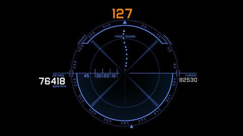 computer game interface,Radar GPS navigation screen... Stock Video Footage