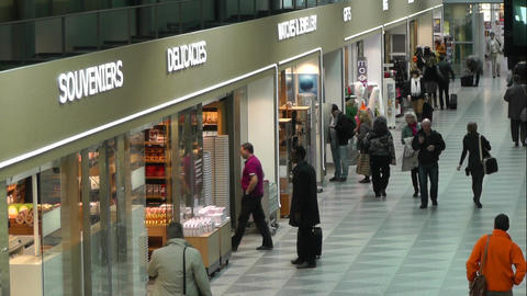 Airport Duty Free Shops 01 handheld Stock Video Footage