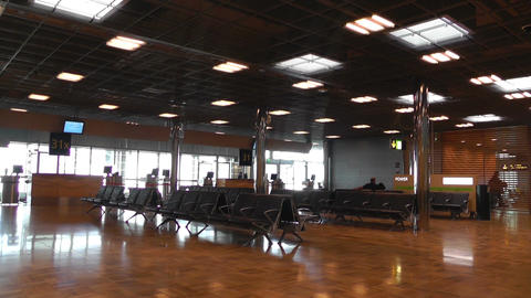 Airport Waiting Boarding Area Stock Video Footage