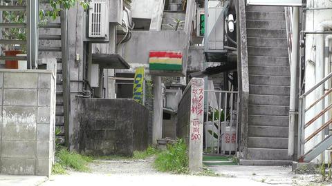American Military Type Buildings in Okinawa Islands 01 Stock Video Footage