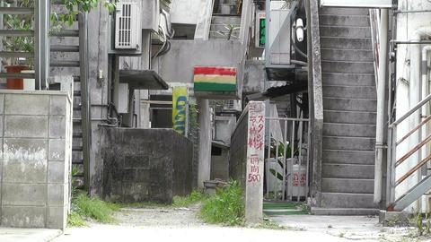 American Military Type Buildings in Okinawa Islands 01 Footage