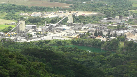 Cement and Concrete Factory in Japan 03 Stock Video Footage