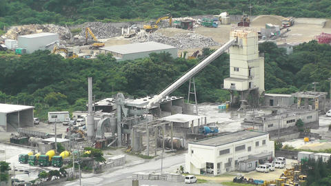 Cement and Concrete Factory in rural Japan 01 Stock Video Footage