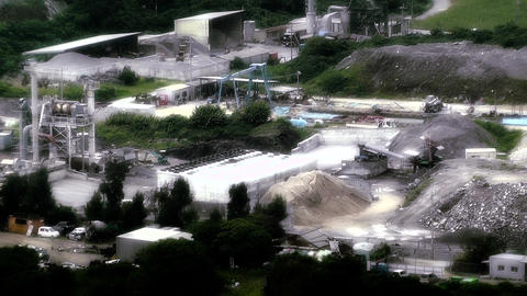 Cement Concrete Factory in rural Japan stylized 02 Footage