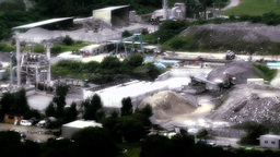 Cement Concrete Factory in rural Japan stylized 02 Stock Video Footage